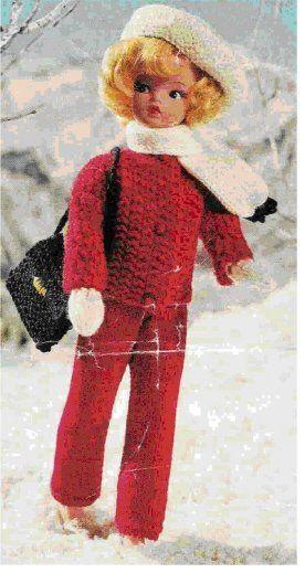 Free Barbie knitting patterns Doll knitting patterns ski outfit