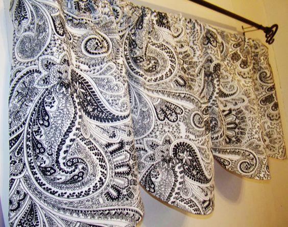 BEAUTIFUL  PAISLEY VALANCE Curtain 56 x 17 by ANMARIKEDECORPLUS, $33.99