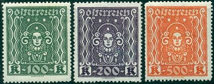 Austria Stamps - Issues of 1922