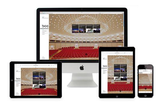 "corporate design, Webdesign ""bcc Berlin Congress Center"""