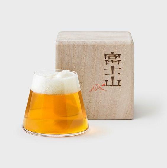 Fujiyama Beer Glass by Keita Suzuki