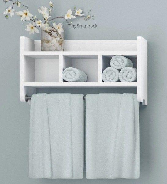 Bathroom Wall Cabinet Towel Bar Storage, Bathroom Cabinet With Towel Rack