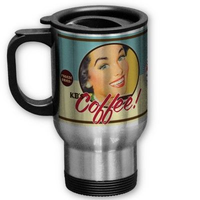 """KB's Coffee"" Travel Mug ... KITSCH ON THE GO!"