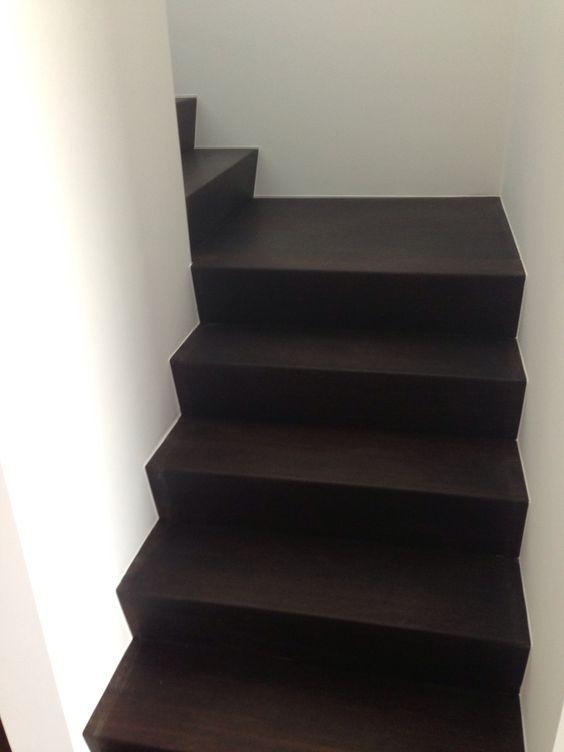 Trapbekleding met hout wooden staircase houten trap wooden steps bloktrap - Deco houten trap ...