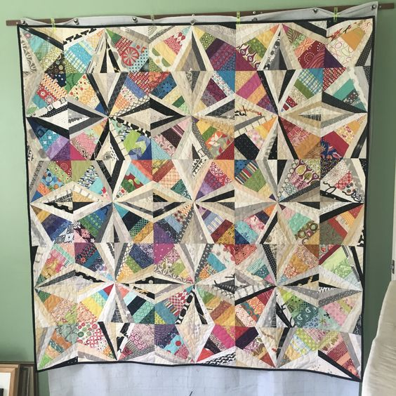 Spider web quilt using pattern by Bonnie Hunter