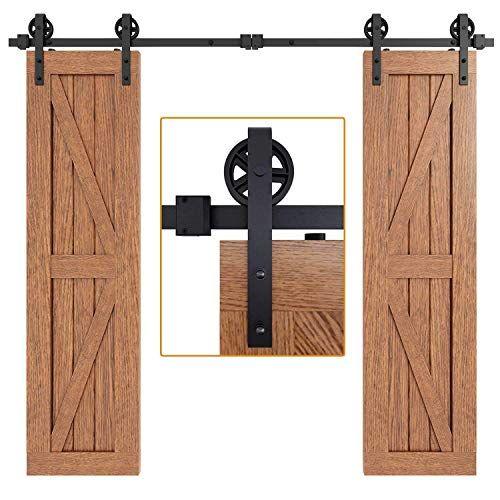 Double Barn Doors Amazon Com In 2020 Exterior Barn Door Hardware Barn Door Barn Door Hardware