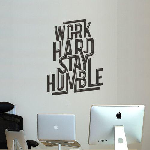 """Work Hard Stay Humble""  A acheter ici"