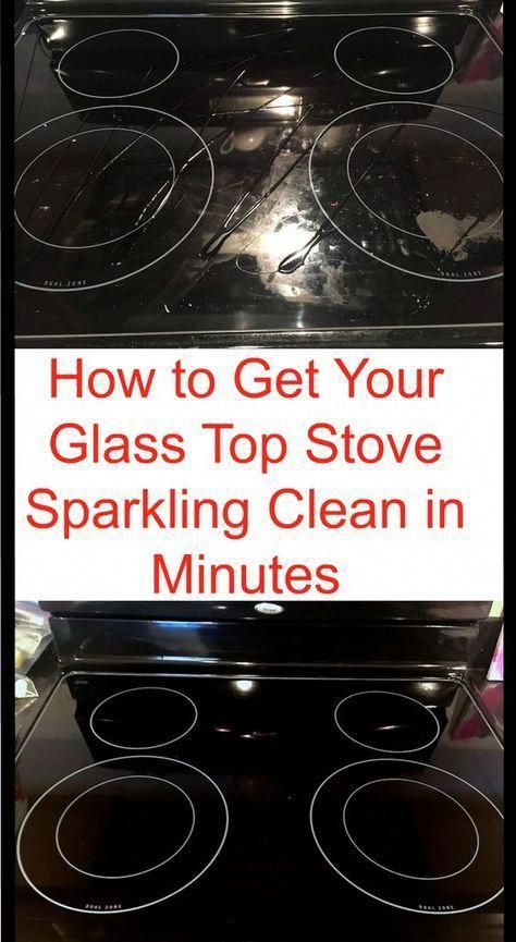 Cleaning hack to clean your glass stove in just a few minutes. (But with witch hazel instead of peroxide) #cleaninghacks