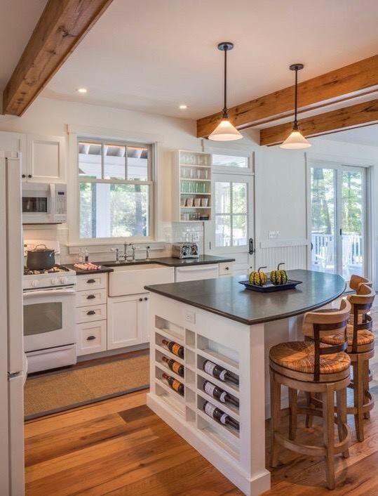 küche mit kochinsel stilvolle arbeitsoberfläche und schwarze - küche mit küchenblock