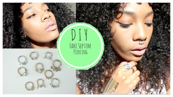 DIY Fake Septum Piercing (Popular on Tumblr) NO MONEY NEEDED