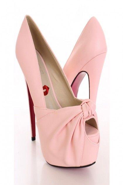 Baby Pink High Heel Shoes | Tsaa Heel