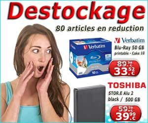 80 articles en promo grâce à l'opération de déstockage disponible actuellement chez CDRohlinge24 / JayDisc.com | Maxi Bons Plans