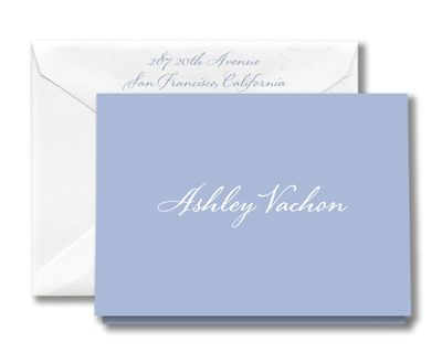 Engraved Azure Note Cards