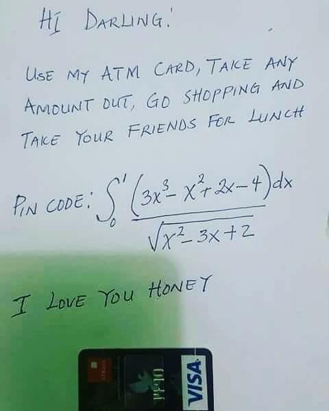 Pin ATM dari soal integral/Facebook