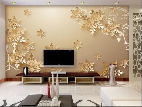 Wallpaper Design For Living Room Home Decoration Ideas 2019 Drawing Room Des Wallpaper Living Room Design Living Room Wallpaper Wallpaper Design For Bedroom