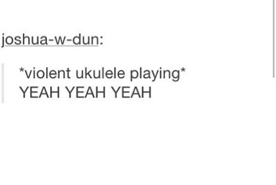 so i told someone yesterday that i listen to  u0026quot screamo ukulele rap u0026quot  bc it was relevant to the