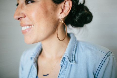 Wooden Loop Earrings | The Magnolia Market | Joanna Gaines: