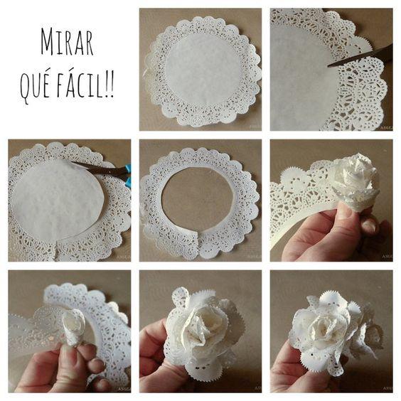 Las mejores ideas para decorar con blondas de papel - Blondas de papel ...