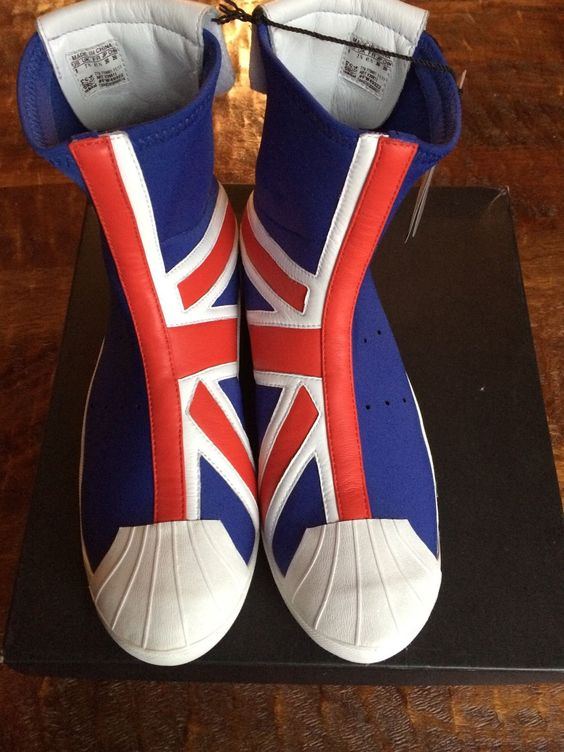 Adidas Y 3 RARE Yohji Yamamoto Neoprene Ankle Boot Union Jack Sz8 | eBay