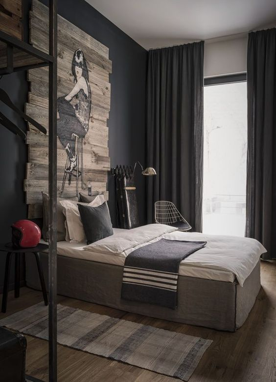 15 Masculine Bachelor Bedroom Suggestions - http://www.decorazilla.com/interior-design-2/15-masculine-bachelor-bedroom-suggestions.html