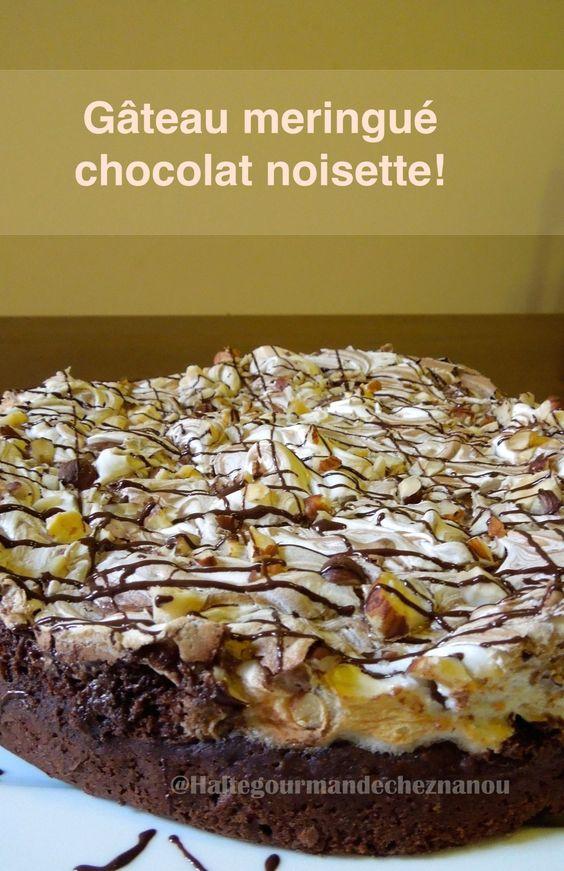 gateau chocolat noisette meringué