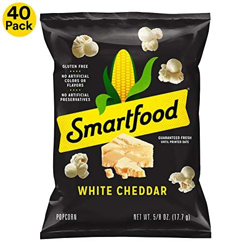 Amazon S S Deal Smartfood White Cheddar Flavored Popcorn 0 625 Ounce 40 Count Cheddar Popcorn Flavored Popcorn White Cheddar Popcorn