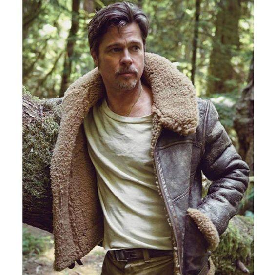 Sheepskin Jacket Brad Pitt And Cold Weather On Pinterest