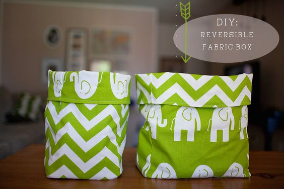 tell love and chocolate: TELL: DIY Reversible Fabric Box