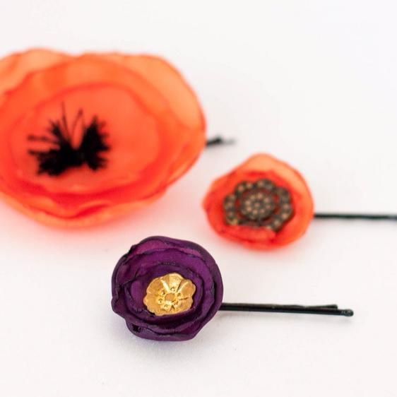 DIY Hair Accessories : DIY Colorful and Romantic Hairpins