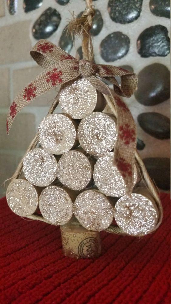 Ornamenti di natale oro di sughero dell'albero di di BeautyHurts