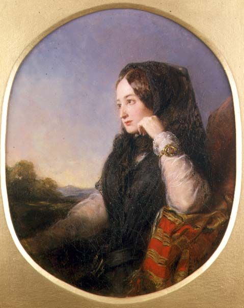 1846 Eugénie Countess of Teba at age of 20 Abraham Solomon APFx*§Yue§* 13Jan10