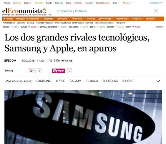 Los problemas de Apple y Samsung #FacebookPins