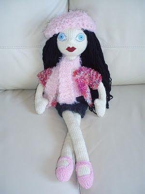 Knitted Doll Stella by Rockeknit ♡