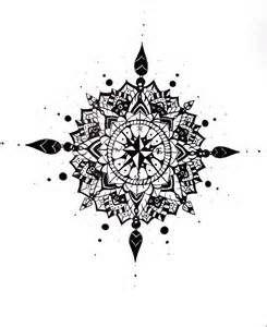 Mandala tattoo mandalas and compass on pinterest
