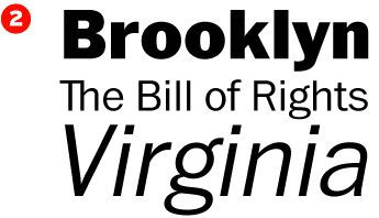 2. Franklin Gothic — designed by Morris Fuller Benton and Victor Caruso, published by Monotype. #fonts #typography