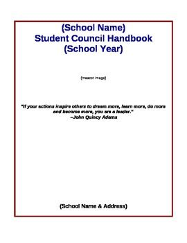 Help with student council thing...?
