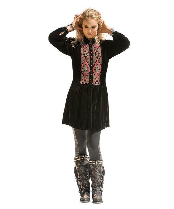 Earth Spirit Velvet Tunic by Double D Ranch