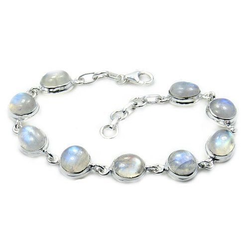 'Dreams and Whispers' Sterling Silver Moonstone Bracelet  Price : $114.95 http://www.silverplazajewelry.com/Whispers-Sterling-Silver-Moonstone-Bracelet/dp/B00JNWJJS0