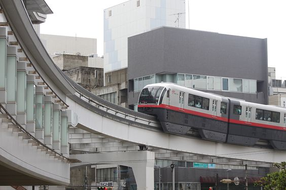 Monorail in Naha, on Okinawa Japan