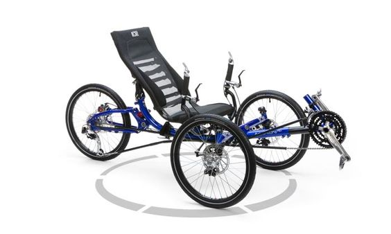 Ice Adventure HD26Rs Blue Recumbent Trike