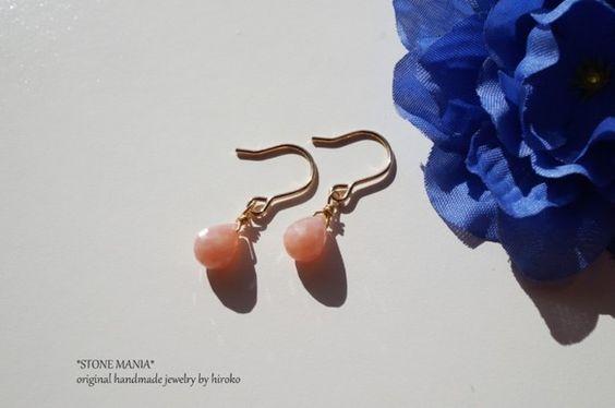 ~♡14kgf♡petite pierce♡ピンクオパール♡~とっても愛らしいピンク色の♡petite pierce♡が出来上がりました。愛らしく美しいカット...|ハンドメイド、手作り、手仕事品の通販・販売・購入ならCreema。