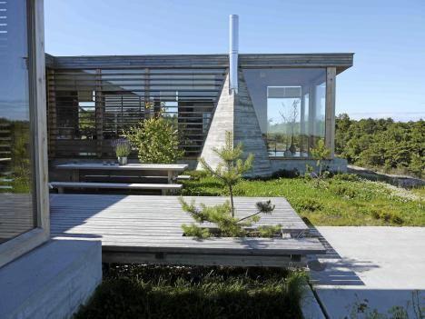 Arkitekttegnet hytte på Hvaler - Topparkitektens hytte svever over ...