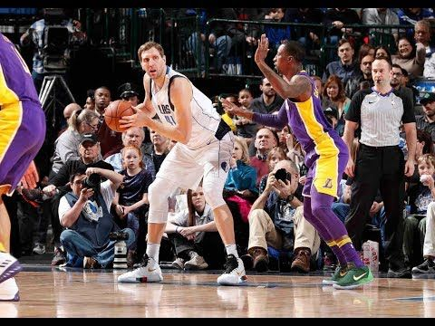 Dirk Nowitzki Scores Season High 22 Points Vs The Los Angeles Lakers Youtube Los Angeles Lakers Dirk Nowitzki Lakers