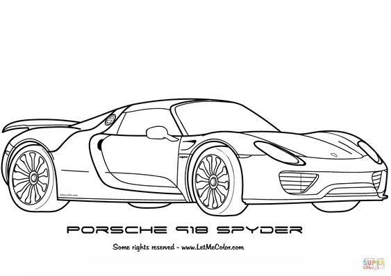 Porsche 911 Turbo Coloring Pages   Coloring Page Blog