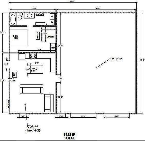 Barndominium Shop Plans With Living Quarters Come For The Spacious Shops But Stay Barndominium Floor Plans Shop With Living Quarters Pole Barn House Plans