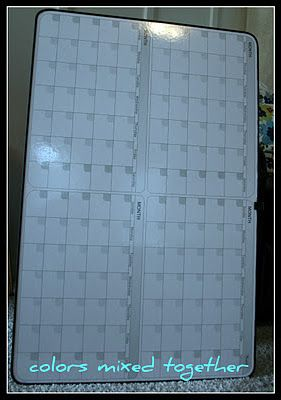 The dry erase calendar *Before*