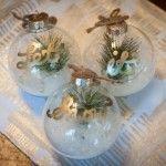 Cute DIY Mason Jar Snowman. Made using a mason jar and a clear ornament.