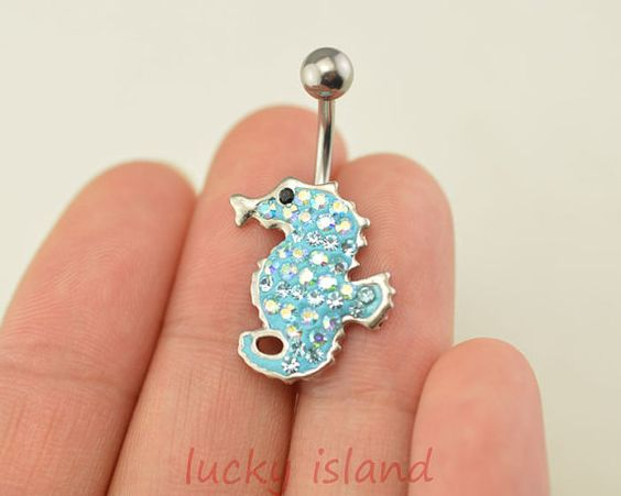 belly ringbelly button jewelryseahorse belly button by luckyisland, $5.39
