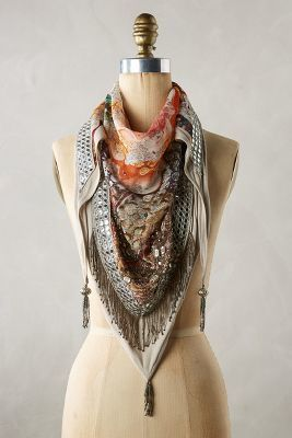Anthropologie Catarina Fringed Scarf #anthroregistry