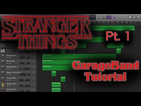 Stranger Things Garageband Tutorial Garage Band Stranger Things Music Tutorials